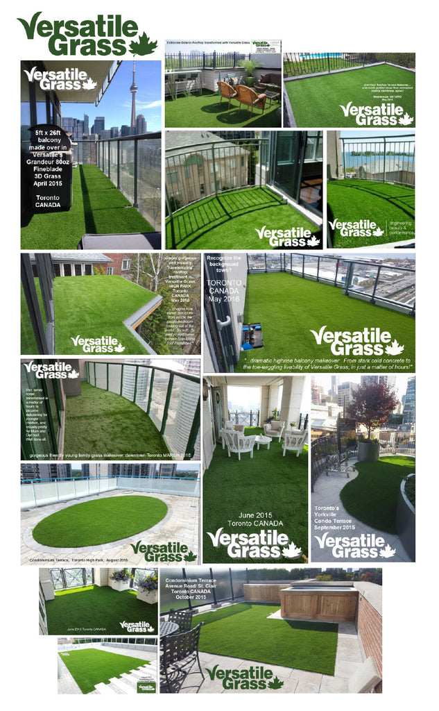 balconies terraces decks Versatile synthetic artificial grass turf Toronto GTA Ontario