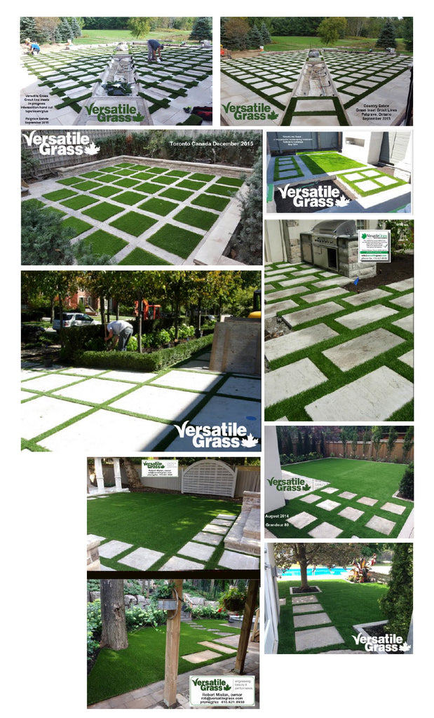 fancy insert grout strips special Versatile synthetic artificial grass turf Toronto GTA Ontario