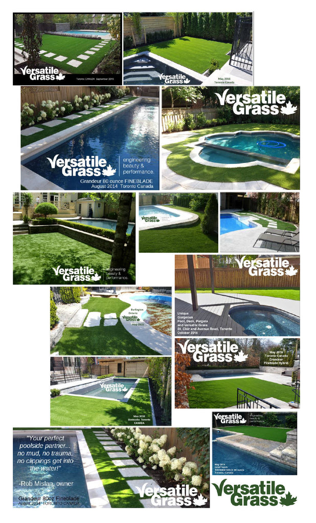 Swimming Pools backyards Versatile synthetic artificial grass turf Toronto GTA Ontario
