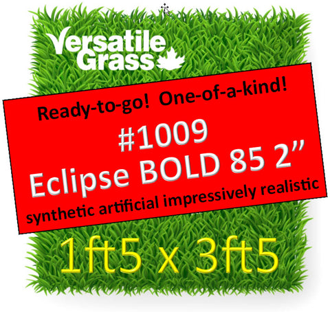 Piece #1009 Eclipse BOLD 85 2 inch 1ft5 x 3ft5 Synthetic Artificial Grass ELM