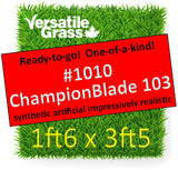Piece #1010 Champion Blade 103 1ft6 x 3ft5 Synthetic Artificial Grass ELM