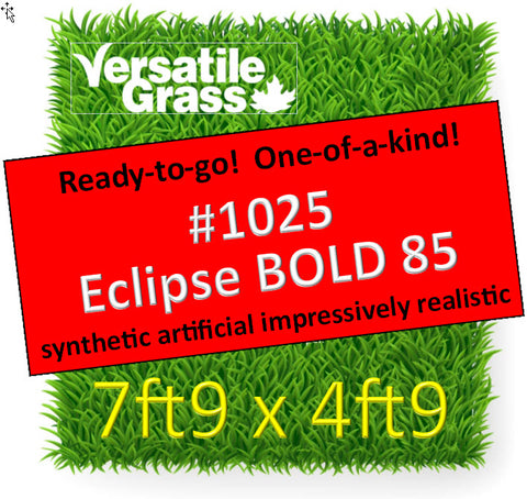 "Piece #1025 Eclipse BOLD 85 2""  7ft9 x 4ft9 synthetic artificial grass SSTOR"