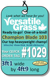 Piece #1029 Champion Blade 103 3ft1 x 4ft9 synthetic artificial grass SSTOR