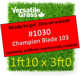 Piece #1030 Champion Blade 103 1ft10 x 3ft0 synthetic artificial grass SSTOR