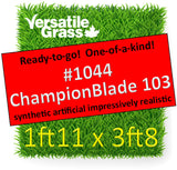 Piece #1044 Champion Blade 103 1ft11 x 3ft8 synthetic artificial grass ELM
