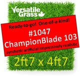 Piece #1047 Champion Blade 103 2ft7 x 4ft7 synthetic artificial grass ELM
