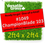 Piece #1049 Champion Blade 103 2ft4 x 2ft4 synthetic artificial grass ELM