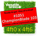 Piece #1051 Champion Blade 103 4ft0 x 4ft6 synthetic artificial grass ELM