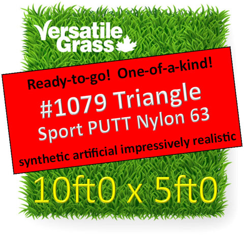 Piece #1079 Sport PUTT Nylon 63 TRIANGLE 10ft0 x 5ft0 synthetic artificial grass ELM