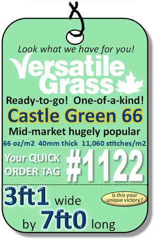 Piece #1122 Castle Green 66   3ft1  x 7ft0 synthetic artificial grass SSTOR