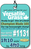 Piece #1131 Champion Blade 103  1ft10 x 4ft0 synthetic artificial grass ELM