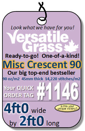 Piece #1146 MISC Crescent 84 4ft0 x 2ft0 synthetic artificial grass ELM