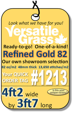 Piece #1213 Refined Gold 82  4ft2 x 3ft7 synthetic artificial grass SSTOR
