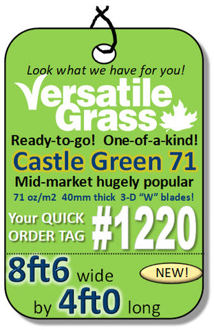 Piece #1220 Castle Green 71  8ft6 x 4ft0 synthetic artificial grass ELM
