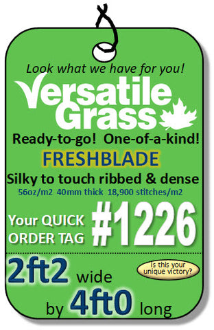 Piece #1226 Freshblade  2ft2 x 4ft0 synthetic artificial grass ELM