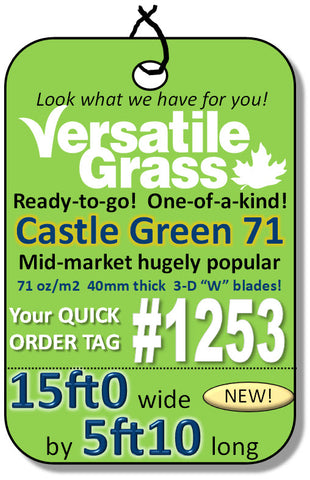 Piece #1253 Castle Green 71  15x5ft10 synthetic artificial grass SSTOR