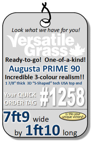 Piece #1258 Augusta Prime 90  7ft9 x 1ft10 synthetic artificial grass SSTOR