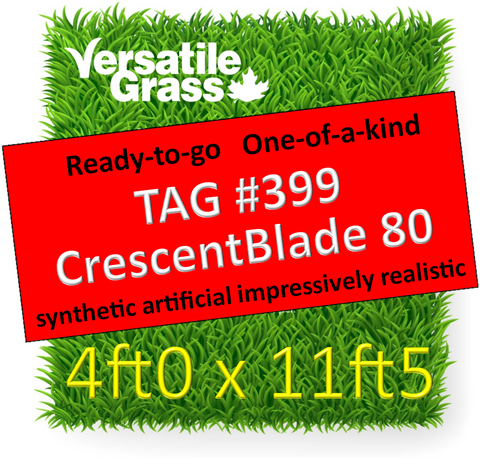 TAG#399 Grandeur 80 Crescentblade Synthetic Artificial Grass 4ft x 11ft5 Elm