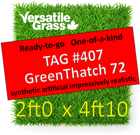 TAG#407 GreenThatch 72 Synthetic Artificial Grass 2ft x 4ft10 Elm