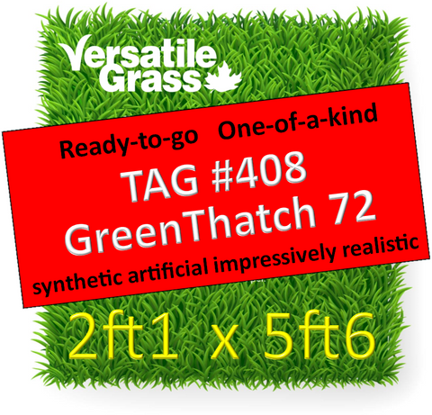 TAG#408 GreenThatch 72 Synthetic Artificial Grass 2ft1 x 5ft6 Elm