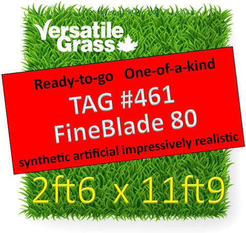 TAG#461 FineBlade 80 Synthetic Artificial Grass 2ft6 x 11ft9 Elm