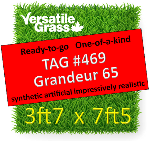 TAG#469 Grandeur 65 Synthetic Artificial Grass 3ft7 x 7ft5 Elm