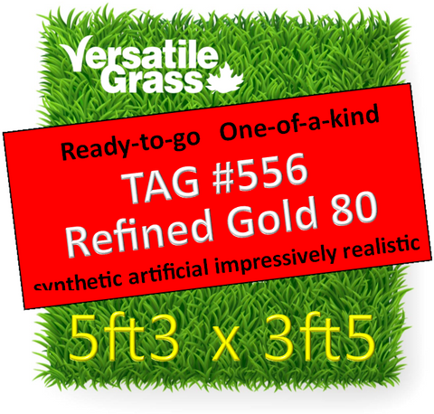 TAG#556 Refined Gold 80 Synthetic Artificial Grass 5ft3 x 3ft5 SStor