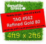 TAG#562 Goldthatch Refined 80 Synthetic Artificial Grass 4ft9 x 2ft6 Elm