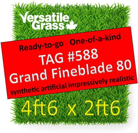 TAG#588 Grandeur Fineblade 80 Synthetic Artificial Grass 4ft6 x 2ft6 Elm