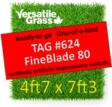 TAG#624 Grandeur 80 Fineblade Synthetic Artificial Grass 4ft7 x 7ft3 Elm