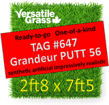 TAG#647 Grandeur PUTT 56 Synthetic Artificial Grass  2ft8 x 7ft5 Elm