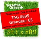 TAG#695 Grandeur 65 Synthetic Artificial Grass 3ft3 x 8ft9 Elm