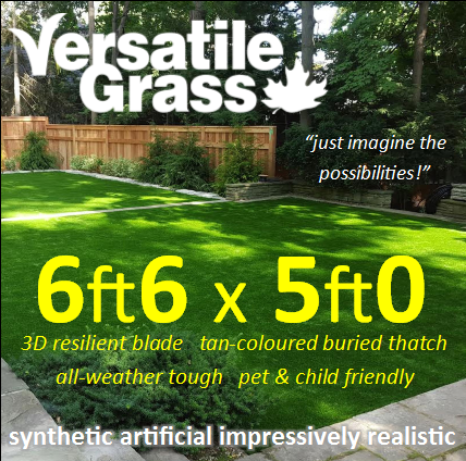 6ft6 x 5ft0 Multi Usage Synthetic Artificial Grass