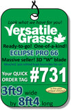 TAG#731 Eclipse Pro Synthetic Artificial Grass 3ft9 x 8ft4 Elm