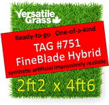 TAG#751 FineBlade Hybrid Synthetic Artificial Grass 2ft2 x 4ft6 Elm