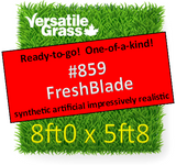Tag #859 FreshBlade  Synthetic Artificial Grass 8ft0 x 5ft8 SStor