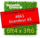 Tag #861 Grandeur 65 Synthetic Artificial Grass 6ft4 x 3ft6 Elm