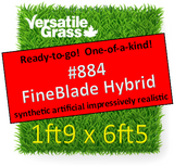 Piece #884 Fineblade Hybrid Synthetic Artificial Grass 1ft9 x 6ft5 Elm