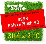 Piece #898 Palace Plush 90 Synthetic Artificial Grass 3ft4 x 2ft0 Elm