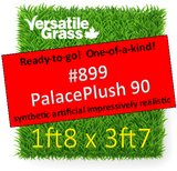 Piece #899 Palace Plush 90 Synthetic Artificial Grass 1ft8 x 3ft7 Elm