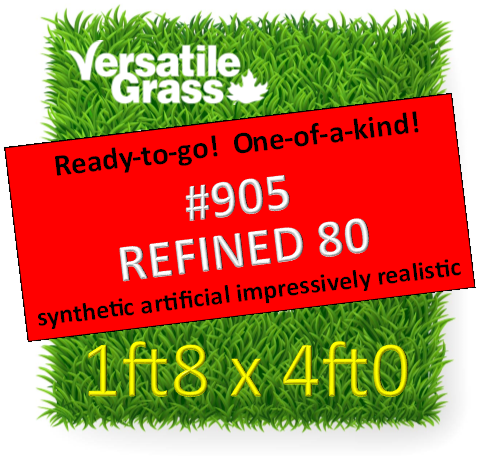 Piece #905 Goldthatch Refined 80 Synthetic Artificial Grass 1ft8 x 4ft0 Elm