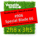 Piece #906 Special Blade 66 Synthetic Artificial Grass 2ft8 x 3ft5 Elm