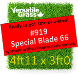 Piece #919 Special Blade 66 Synthetic Artificial Grass 4ft11 x 3ft0 Elm