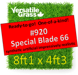 Piece #920 Special Blade 66 Synthetic Artificial Grass 8ft1 x 4ft3 Elm