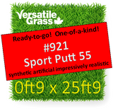 Piece #921 Sport PUTT 55 Synthetic Artificial Grass  9.5 INCH x 25ft9 Elm