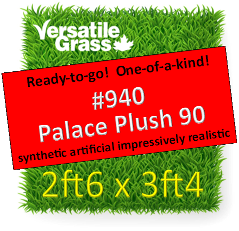 Piece #940 Palace Plush 90  Synthetic Artificial Grass 2ft6 x 3ft4  SStor