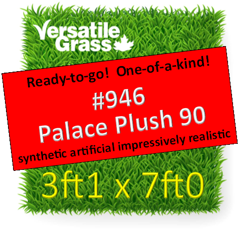 Piece #946 Palace Plush 90  Synthetic Artificial Grass 3ft1 x 7ft0  SStor