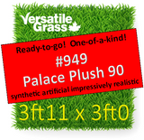 Piece #949 Palace Plush 90  Synthetic Artificial Grass 3ft11 x 3ft0 Elm