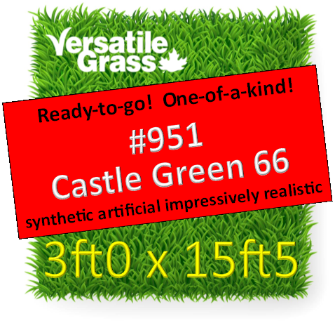 Piece #951 Castle Green 66 Synthetic Artificial Grass 3ft0 x 15ft5 SStor