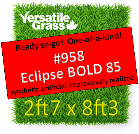 Piece #958 Eclipse BOLD 3D 85 Synthetic Artificial Grass 2ft7 x 8ft3 SStor